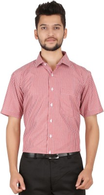 Stylo Shirt Men's Striped Casual Red Shirt