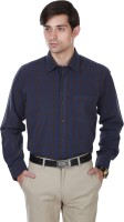 Cotton County Formal Shirts (Men's) - Cotton County Men's Checkered Formal Black Shirt