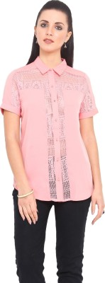 Urban Helsinki Women's Solid Casual Pink Shirt