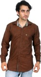 15 ML Men's Solid Casual Maroon Shirt