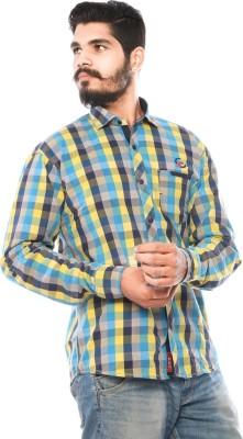 LWW Men's Checkered Casual Yellow, Blue, Black Shirt