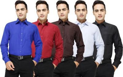 Yuva Men's Solid Formal Blue, Maroon, Brown, Light Blue, Black Shirt