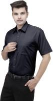 Koutons Outlaw Formal Shirts (Men's) - Koutons Outlaw Men's Solid Formal Black Shirt