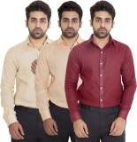 Deeksha Men's Solid Casual Maroon Shirt ...
