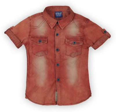 Lilliput Boy,s Solid Casual Red Shirt