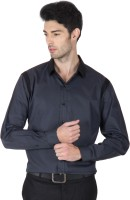 Roar And Growl Formal Shirts (Men's) - Roar and Growl Men's Striped Formal Grey Shirt