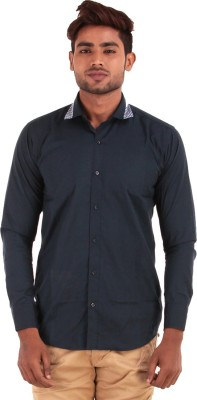 The G Street Men's Solid Casual Blue Shirt