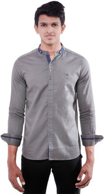 Enovate Men's Solid Casual Grey Shirt
