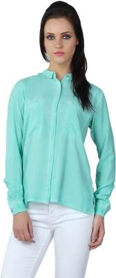 Liwa Women's Solid Casual Green Shirt