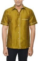 Kenrich Formal Shirts (Men's) - KENRICH Men's Solid Formal Gold Shirt