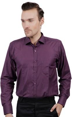 Jorzzer Roniya Men's Solid Casual Purple Shirt