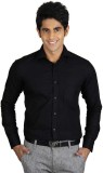 La Polo Men's Solid Formal Black Shirt