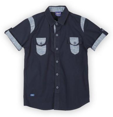 Lilliput Boy,s Solid Casual Light Blue Shirt