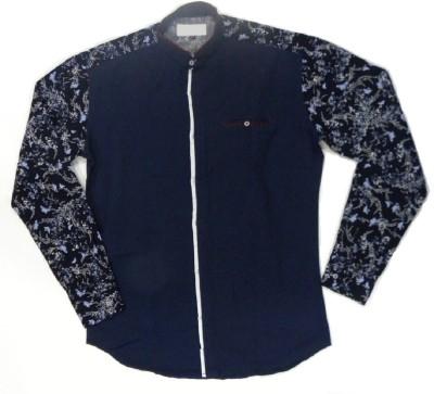 ARCS Agencies Men's Printed Casual Blue Shirt