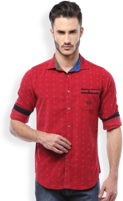 Mike and Smith Men's Printed Casual Red Shirt