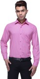 Jads Men's Checkered Formal Pink Shirt