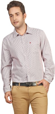 P4 Men's Checkered Casual Red, Black Shirt