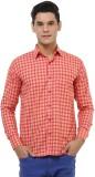 Oxolloxo Men's Checkered Casual Red Shir...