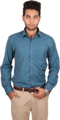 Styllus Men's Solid Formal Blue Shirt