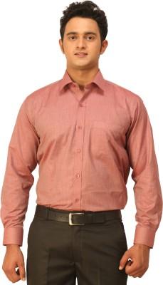 Seven Days Men's Solid Formal Red Shirt
