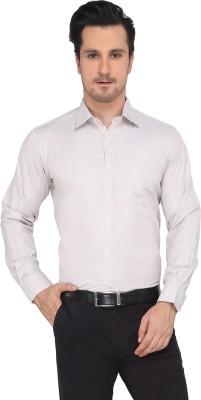 Devaa Men's Solid Formal Beige Shirt