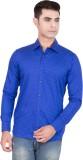 FDS Men's Animal Print Casual Blue Shirt