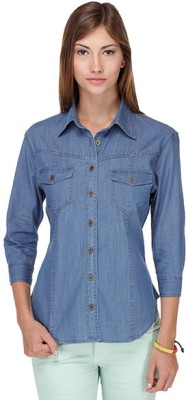 Yepme Women's Casual Blue Shirt
