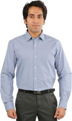 Desar Rana Men's Solid Formal Blue Shirt