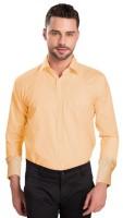 Attrayant Formal Shirts (Men's) - Attrayant Men's Solid Formal Orange Shirt