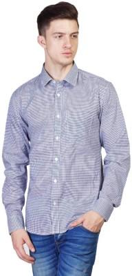 Seaboard Men's Checkered Casual Purple, White Shirt