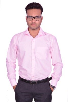 Lee Marc Men's Solid Formal Pink Shirt