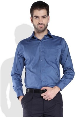 Park Avenue Men,s Solid Formal Dark Blue Shirt