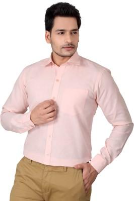 Brinley Men,s Solid Formal Pink Shirt