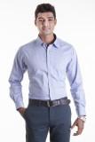 Sting Men's Checkered Formal Blue Shirt
