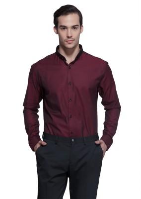 Karsci Men's Self Design Lounge Wear Maroon Shirt
