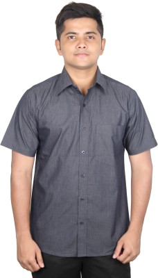 SWADESHI Men's Solid Casual Dark Blue Shirt