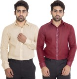 Deeksha Men's Solid Casual Beige Shirt (...