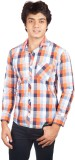 A Flash Men's Checkered Casual Multicolo...
