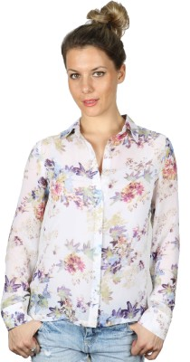 IRACC Women's Printed Casual Multicolor Shirt