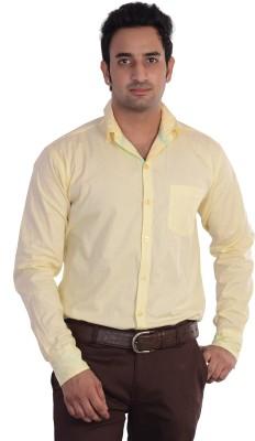 Mild Kleren Men's Solid Casual Yellow Shirt