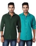 Suspense Men's Solid Casual Green, Blue ...