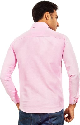 Trinath Men's Solid Casual Pink Shirt