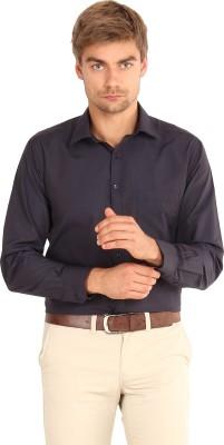 I-Voc Men's Solid Formal Black Shirt