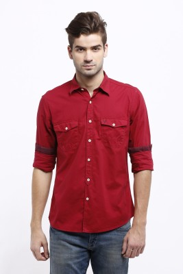 Allen Solly Men's Solid Casual Red Shirt