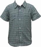 Pinehill Boys Printed Casual Green Shirt