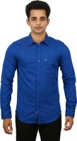 Hunter Formal Shirts (Men's) - Hunter Men's Self Design Formal Blue Shirt