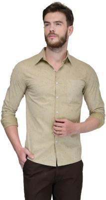 Yellow Submarine Men's Printed Casual Beige Shirt