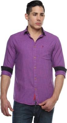 British Club Men,s Checkered Casual Purple, Blue Shirt