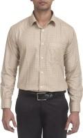 Trensup Formal Shirts (Men's) - Trensup Men's Printed Formal Beige Shirt