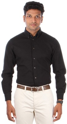 Indian Terrain Men's Solid Casual Black Shirt